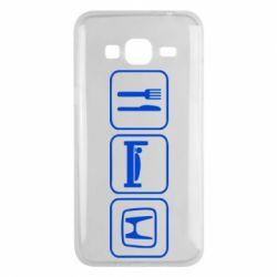 Чехол для Samsung J3 2016 Eat Sleep Honda - FatLine