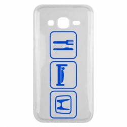 Чехол для Samsung J5 2015 Eat Sleep Honda - FatLine