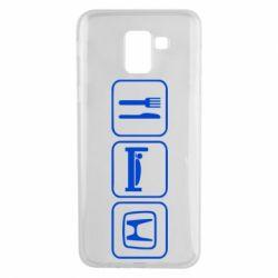 Чехол для Samsung J6 Eat Sleep Honda - FatLine