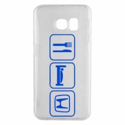 Чехол для Samsung S6 EDGE Eat Sleep Honda - FatLine