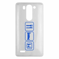 Чехол для LG G3 mini/G3s Eat Sleep Honda - FatLine