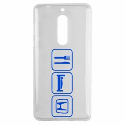 Чехол для Nokia 5 Eat Sleep Honda - FatLine
