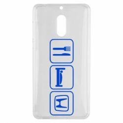 Чехол для Nokia 6 Eat Sleep Honda - FatLine