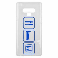 Чехол для Samsung Note 9 Eat Sleep Honda - FatLine
