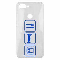 Чехол для Xiaomi Mi8 Lite Eat Sleep Honda - FatLine