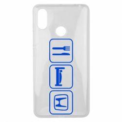 Чехол для Xiaomi Mi Max 3 Eat Sleep Honda - FatLine