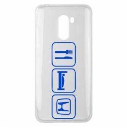 Чехол для Xiaomi Pocophone F1 Eat Sleep Honda - FatLine