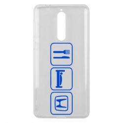 Чехол для Nokia 8 Eat Sleep Honda - FatLine