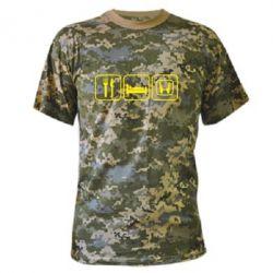 Камуфляжная футболка Eat Sleep Honda - FatLine