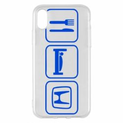 Чехол для iPhone X Eat Sleep Honda - FatLine