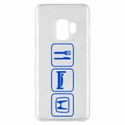 Чехол для Samsung S9 Eat Sleep Honda - FatLine