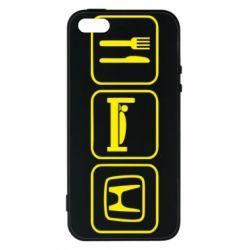 Чехол для iPhone5/5S/SE Eat Sleep Honda - FatLine