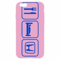 Чехол для iPhone 6 Plus/6S Plus Eat Sleep Honda - FatLine