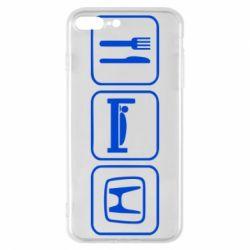 Чехол для iPhone 7 Plus Eat Sleep Honda - FatLine