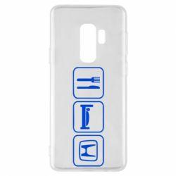 Чехол для Samsung S9+ Eat Sleep Honda - FatLine