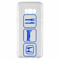 Чехол для Samsung S8+ Eat Sleep Honda - FatLine