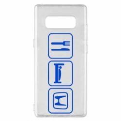 Чехол для Samsung Note 8 Eat Sleep Honda - FatLine