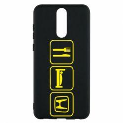 Чехол для Huawei Mate 10 Lite Eat Sleep Honda - FatLine