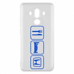 Чехол для Huawei Mate 10 Pro Eat Sleep Honda - FatLine