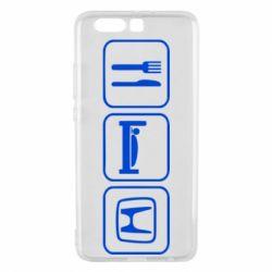 Чехол для Huawei P10 Plus Eat Sleep Honda - FatLine