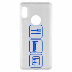 Чехол для Xiaomi Redmi Note 5 Eat Sleep Honda - FatLine