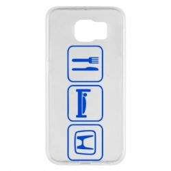 Чехол для Samsung S6 Eat Sleep Honda - FatLine