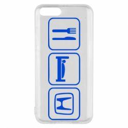 Чехол для Xiaomi Mi6 Eat Sleep Honda - FatLine