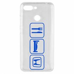 Чехол для Xiaomi Redmi 6 Eat Sleep Honda - FatLine