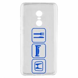 Чехол для Xiaomi Redmi Note 4 Eat Sleep Honda - FatLine