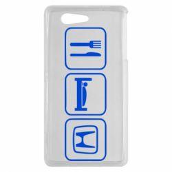 Чехол для Sony Xperia Z3 mini Eat Sleep Honda - FatLine