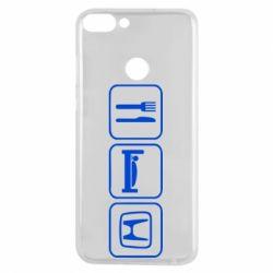 Чехол для Huawei P Smart Eat Sleep Honda - FatLine