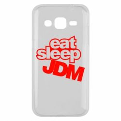 Чехол для Samsung J2 2015 Eat sleep JDM