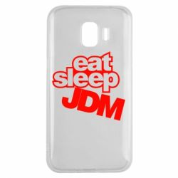 Чехол для Samsung J2 2018 Eat sleep JDM