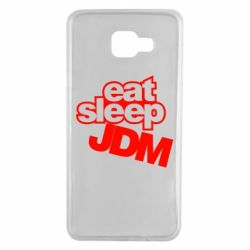 Чехол для Samsung A7 2016 Eat sleep JDM