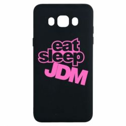 Чехол для Samsung J7 2016 Eat sleep JDM