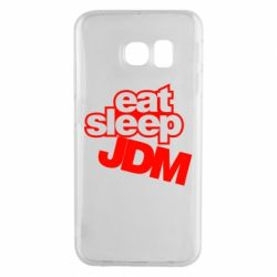 Чехол для Samsung S6 EDGE Eat sleep JDM