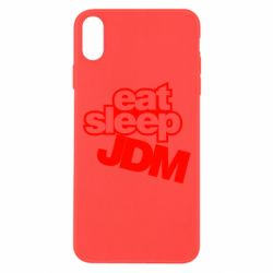 Чехол для iPhone Xs Max Eat sleep JDM