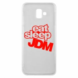 Чехол для Samsung J6 Plus 2018 Eat sleep JDM