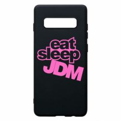 Чехол для Samsung S10+ Eat sleep JDM