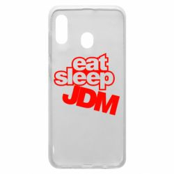 Чехол для Samsung A20 Eat sleep JDM