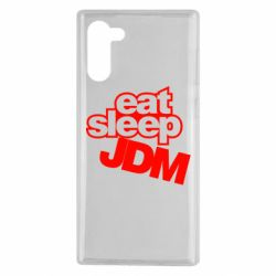 Чехол для Samsung Note 10 Eat sleep JDM