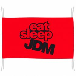 Флаг Eat sleep JDM