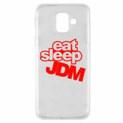 Чехол для Samsung A6 2018 Eat sleep JDM