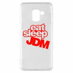 Чехол для Samsung A8 2018 Eat sleep JDM