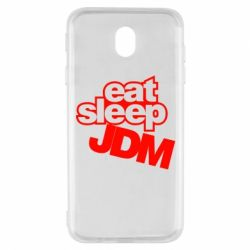 Чехол для Samsung J7 2017 Eat sleep JDM