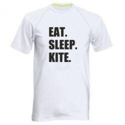 Чоловіча спортивна футболка Eat, sleep, kite