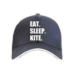 Кепка Eat, sleep, kite