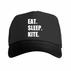 Кепка-тракер Eat, sleep, kite