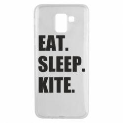 Чохол для Samsung J6 Eat, sleep, kite