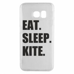 Чохол для Samsung S6 EDGE Eat, sleep, kite